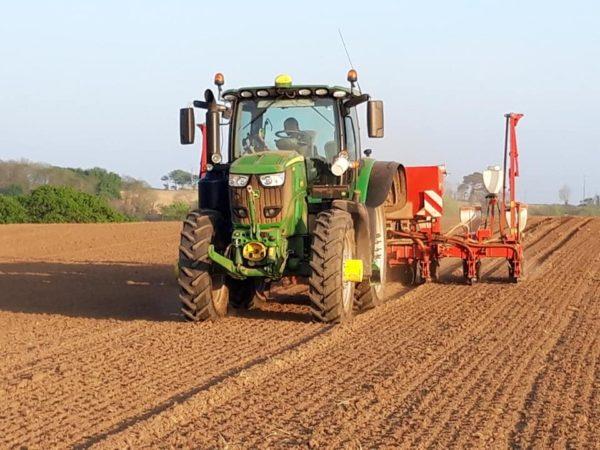 Semis de mais avec guidage RTK coupure de rangs p - Semis de maïs avec guidage RTK, coupure de rangs p...