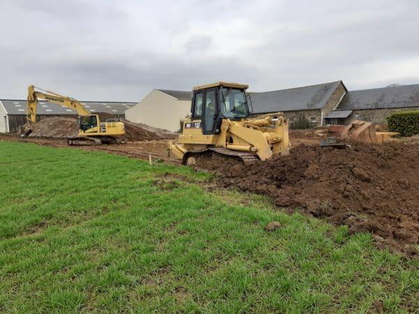 Terrassement dun batiment de stockage de plants d - Terrassement d'un bâtiment de stockage de plants d...